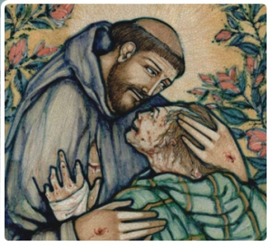 Saint Francis and the Leper