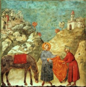 Giotto St. Francis Giving Cloak to Poor Man