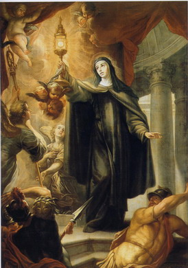 Saint Clare and the Blessed Sacrament